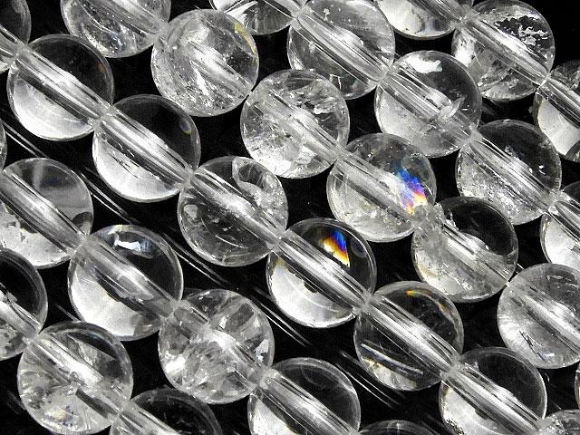 天然石【連販売】レインボークリスタル 丸玉 8mm【半連 1,820円〜】ビーズとパワーストーン