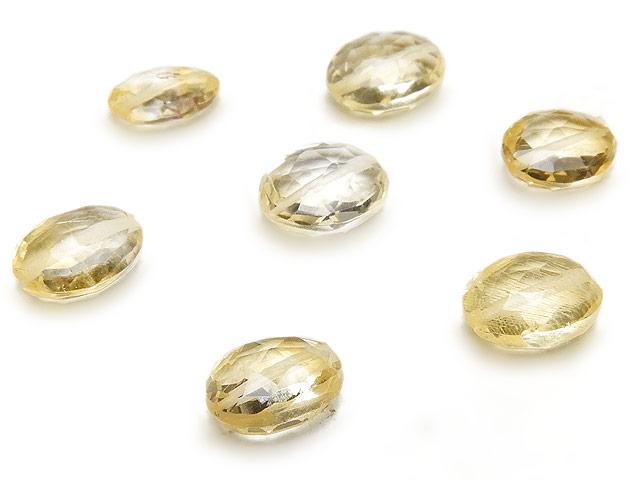 天然石【粒販売】シトリン オーバルカット 7〜8mm【8粒販売 720円】ビーズとパワーストーン