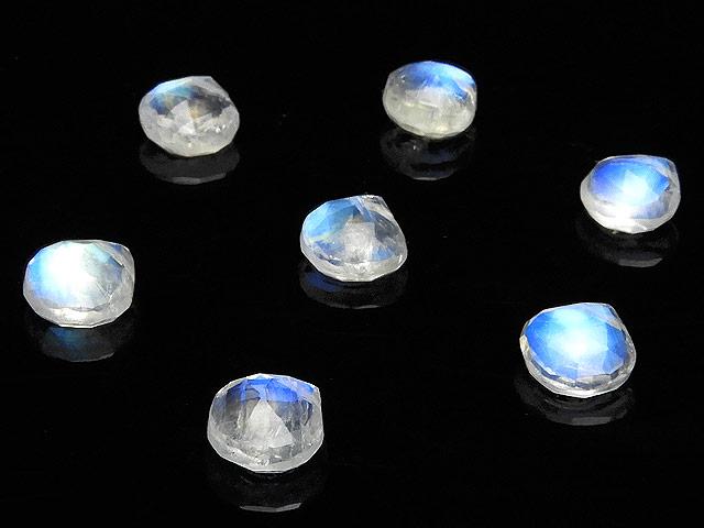 ビーズ天然石【粒販売】レインボームーンストーン マロンカット 5〜6mm【3粒販売 990円】とパワーストーン