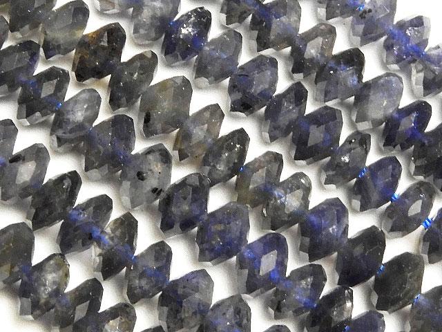 天然石【連販売】アイオライト ボタンカット 6mm【1連 1,800円】ビーズとパワーストーン