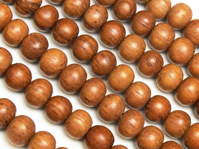 天然石【連販売】[ウッドビーズ]ブラウンウッド 丸玉 5mm【1連 300円】ビーズとパワーストーン