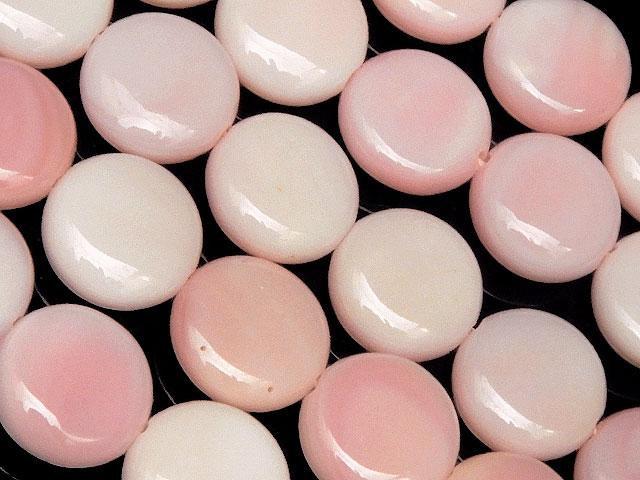 天然石【連販売】クイーンコンクシェル コイン 10mm【1連 3,200円】ビーズとパワーストーン