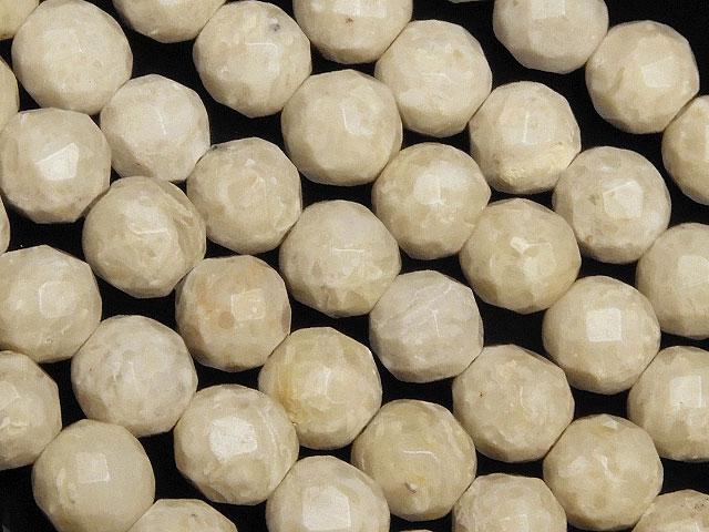ビーズ天然石【連販売】リバーストーン 64面カット 丸玉 6mm【1連 700円】とパワーストーン