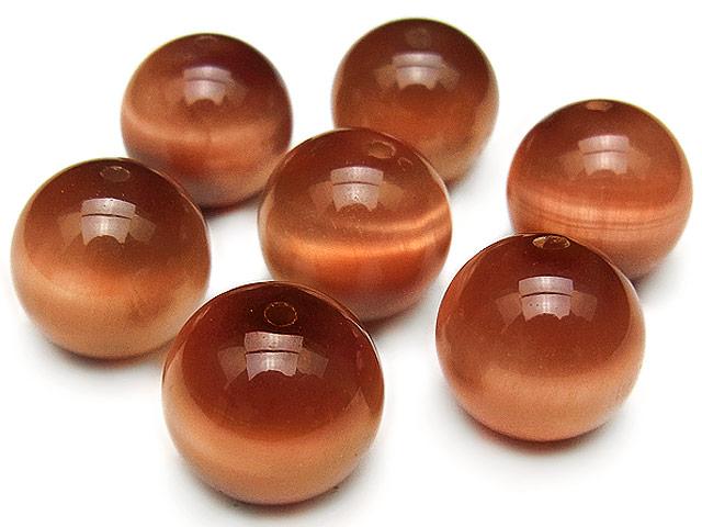 ビーズ天然石【粒販売】オレンジタイガーアイ 丸玉 12mm【3粒販売 680円】とパワーストーン