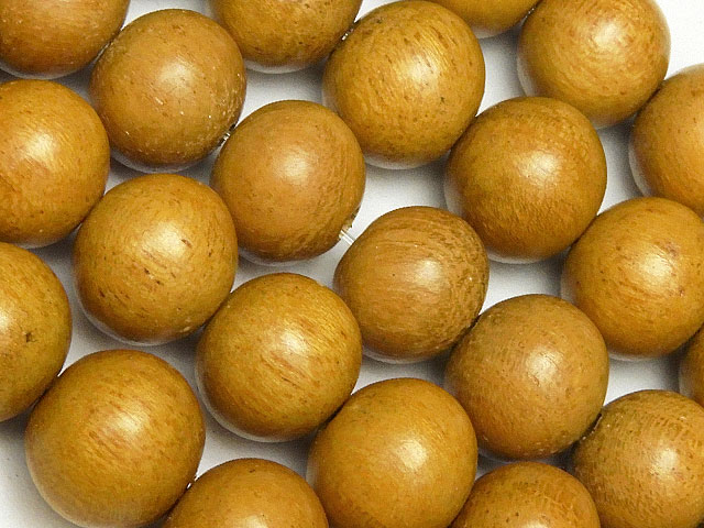 天然石【連販売】[ウッドビーズ]イエローウッド 丸玉 10mm【1連 450円】ビーズとパワーストーン