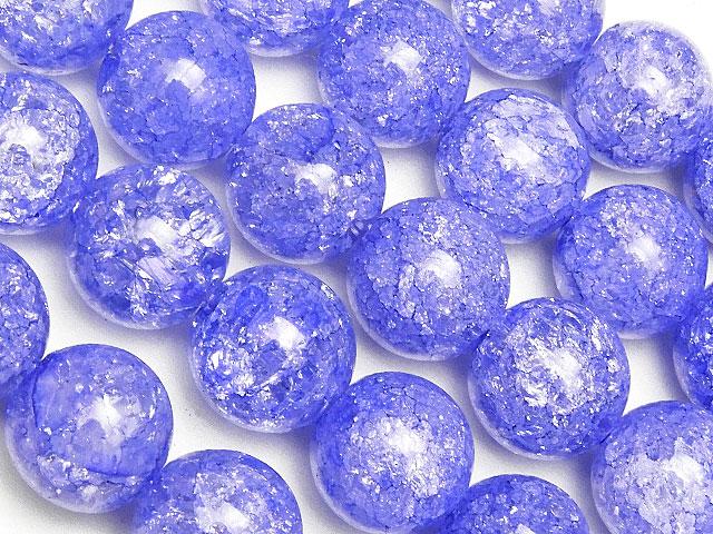 天然石【連販売】ブルーパープル クラッククリスタル 丸玉 10mm【1連 900円】ビーズとパワーストーン