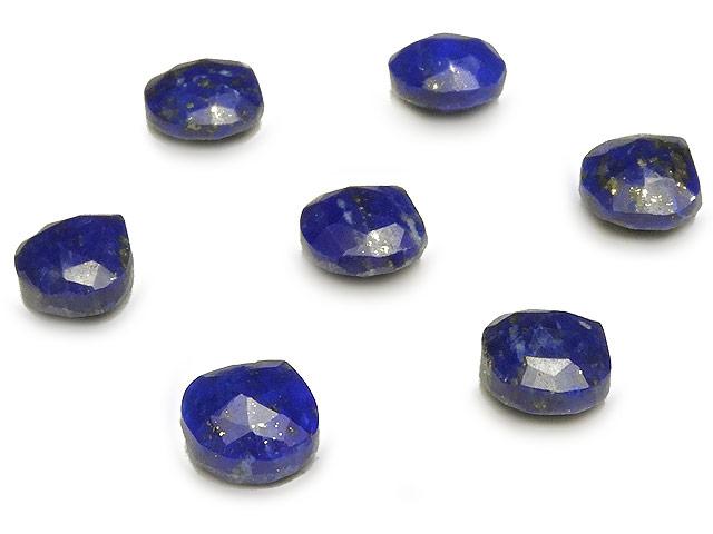 天然石【粒販売】ラピスラズリ マロンカット 6〜7mm【3粒販売 420円】ビーズとパワーストーン