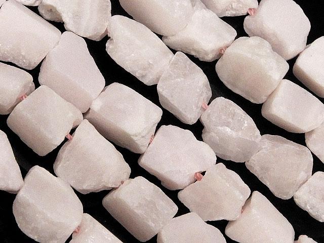 天然石【連販売】ピンクカルサイト(マンガノカルサイト) ラフロック 3〜12mm【1連 2,000円】ビーズとパワーストーン
