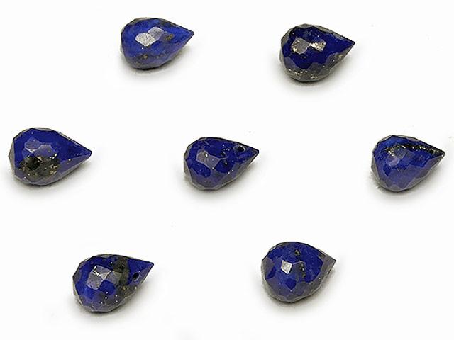 天然石【粒販売】ラピスラズリ ドロップカット 7mm【3粒販売 420円】ビーズとパワーストーン
