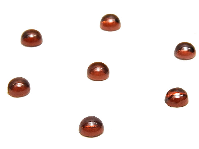 ビーズ天然石【粒販売】モザンビーク産 ガーネット カボション 4mm【8コ販売 480円】とパワーストーン