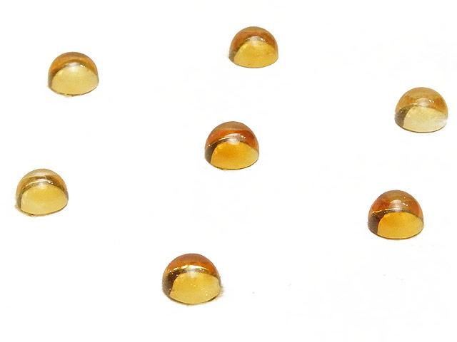 天然石【粒販売】シトリン 丸玉 カボション 4mm【10コ販売 400円】ビーズとパワーストーン