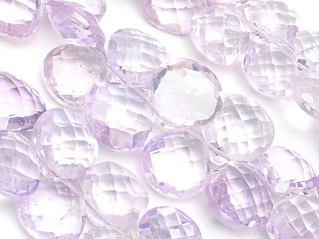 天然石やビーズとパワーストーンの通販サイト【連販売】ピンクアメジスト マロンカット 4〜10mm【1連 3,000円】