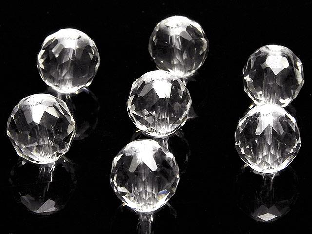 天然石【粒販売】天然水晶 クリスタルクォーツ スターカット 丸玉 8mm[プレミアムカット] No.2【4粒販売 440円】ビーズとパワーストーン