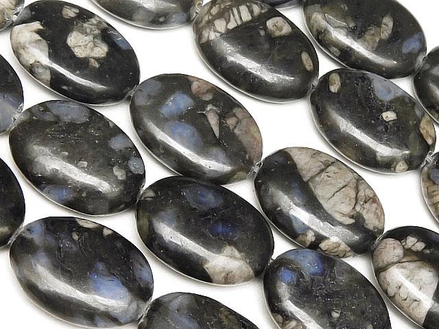 天然石【連販売】ケセラストーン オーバル 17×13mm【1連 1,200円】ビーズとパワーストーン