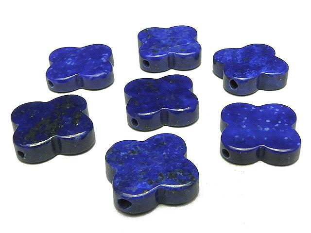 天然石【粒販売】ラピスラズリ クローバー 15mm【3粒販売 720円】ビーズとパワーストーン