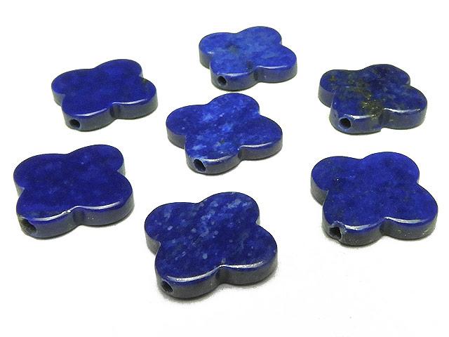天然石【粒販売】ラピスラズリ クローバー 15mm No.2【3粒販売 690円】ビーズとパワーストーン