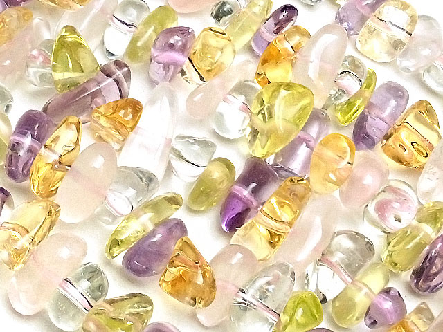 天然石【連販売】ミックスストーン ナゲットチップ 4〜15mm【1連 1,200円】ビーズとパワーストーン