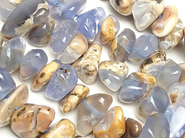 天然石【連販売】ブルーカルセドニー ナゲット 6〜19mm【1連 1,200円】ビーズとパワーストーン