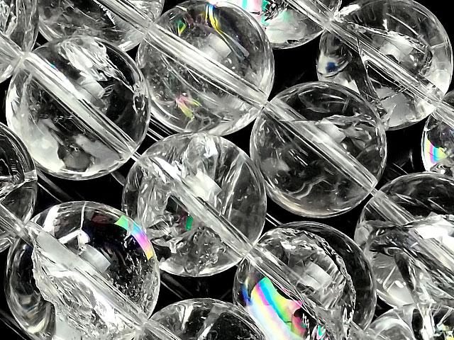 ビーズ天然石【連販売】レインボークリスタル 丸玉 14mm【1連 4,800円】とパワーストーン