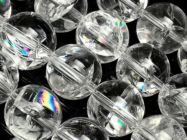 ビーズ天然石【連販売】レインボークリスタル 丸玉 12mm【1連 4,000円】とパワーストーン