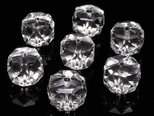 天然石【粒販売】天然水晶 クリスタルクォーツ ボタンカット 10×7mm[プレミアムカット]【6粒販売 660円】ビーズとパワーストーン