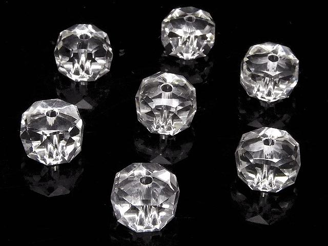 天然石【粒販売】天然水晶 クリスタルクォーツ ボタンカット 8×5mm[プレミアムカット]【8粒販売 640円】ビーズとパワーストーン
