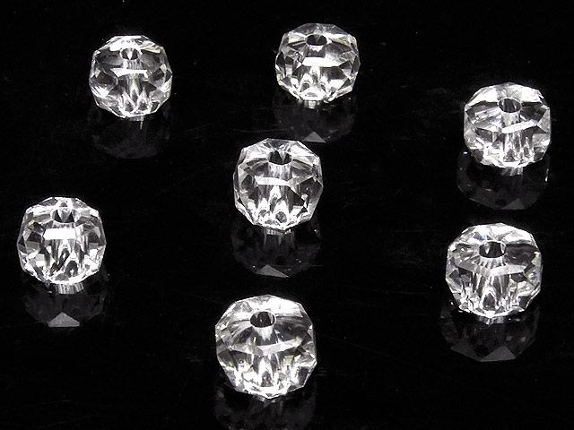 天然石【粒販売】天然水晶 クリスタルクォーツ ボタンカット 6×4mm[プレミアムカット]【10粒販売 600円】ビーズとパワーストーン