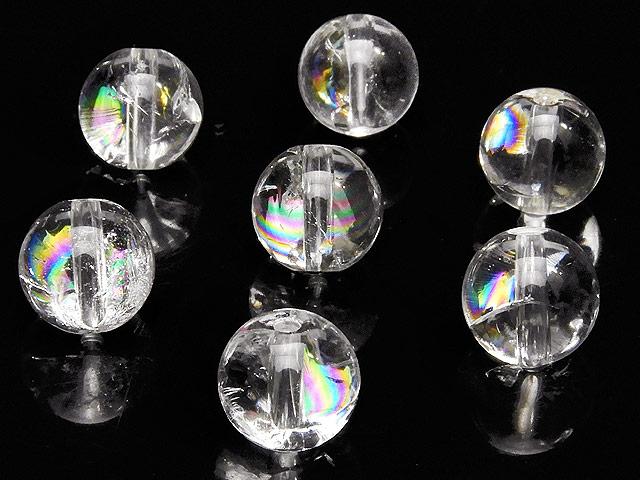 天然石【粒販売】レインボークリスタル 丸玉 8mm【6粒販売 600円】ビーズとパワーストーン