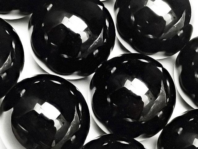 天然石【連販売】オニキス 丸玉 20mm【1連 1,600円】ビーズとパワーストーン