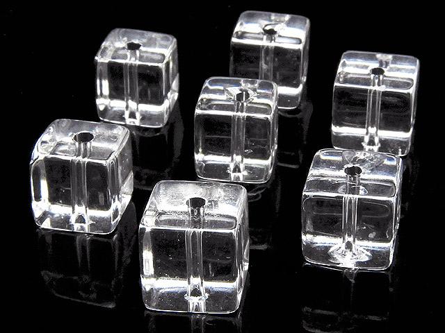 天然石【粒販売】天然水晶 クリスタルクォーツ キューブ 8mm【10粒販売 610円】ビーズとパワーストーン
