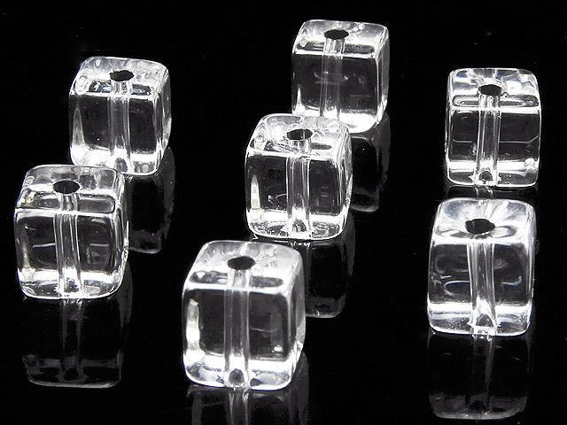 天然石【粒販売】天然水晶 クリスタルクォーツ キューブ 6mm【15粒販売 590円】ビーズとパワーストーン