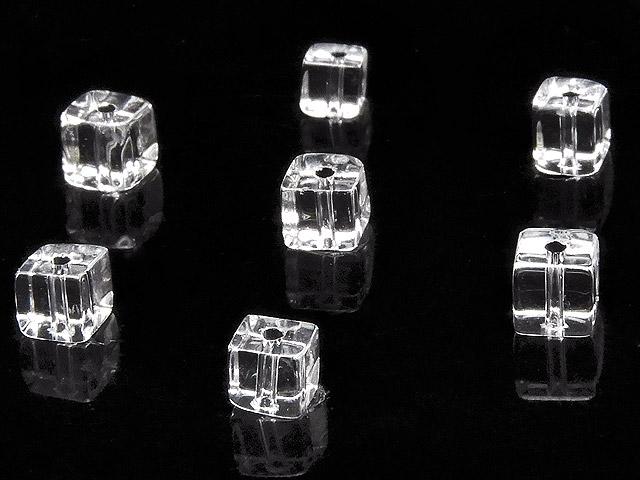 天然石【粒販売】天然水晶 クリスタルクォーツ キューブ 4mm【20粒販売 500円】ビーズとパワーストーン