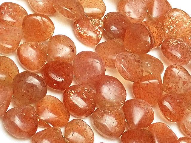 天然石【連販売】サンストーン マロン 5〜10mm[ショート連]【1連 2,500円】ビーズとパワーストーン