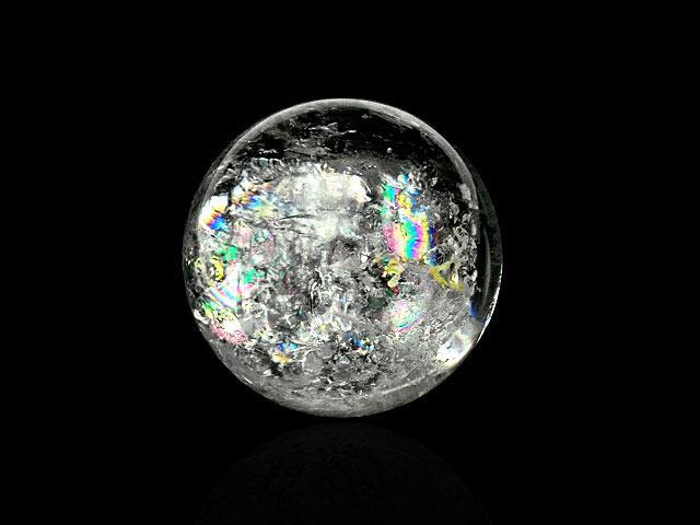 天然石【粒販売】レインボークリスタル 丸玉 25〜29mm[穴なし]【1コ販売 600円】ビーズとパワーストーン
