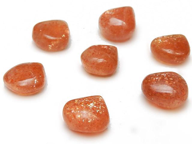 天然石【粒販売】サンストーン マロン 8〜10mm【4粒販売 480円】ビーズとパワーストーン