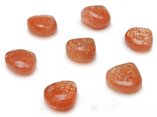 天然石【粒販売】サンストーン マロン 7〜8mm【5粒販売 450円】ビーズとパワーストーン