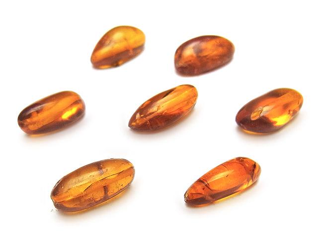 天然石【粒販売】バルティックアンバー(琥珀) ナゲット 11〜12mm【3粒販売 450円】ビーズとパワーストーン