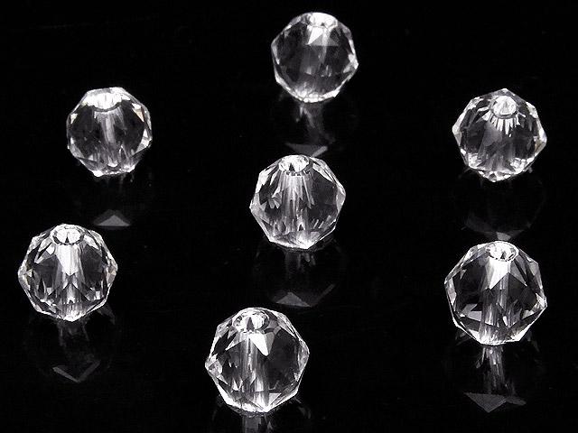 天然石【粒販売】天然水晶 クリスタルクォーツ スターカット 丸玉 6mm[プレミアムカット]【5粒販売 400円】ビーズとパワーストーン