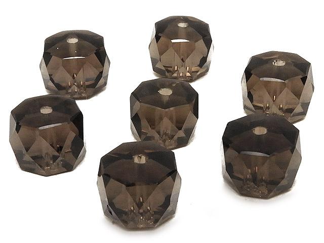 天然石【粒販売】スモーキークォーツ ボタンカット 10×7mm[プレミアムカット]【5粒販売 550円】ビーズとパワーストーン