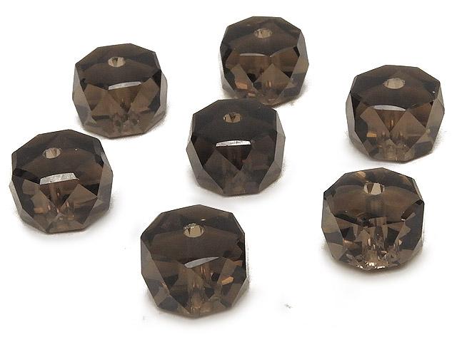 天然石【粒販売】スモーキークォーツ ボタンカット 9×6mm[プレミアムカット]【5粒販売 470円】ビーズとパワーストーン