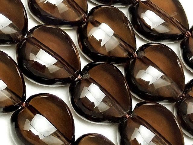 天然石【連販売】スモーキークォーツ ハート 12mm【1連 1,200円】ビーズとパワーストーン