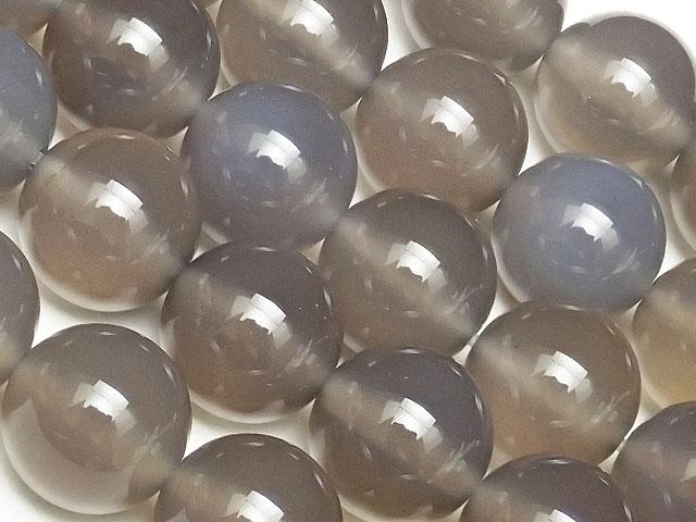 天然石【連販売】グレーカルセドニー 丸玉 10mm【1連 800円】ビーズとパワーストーン