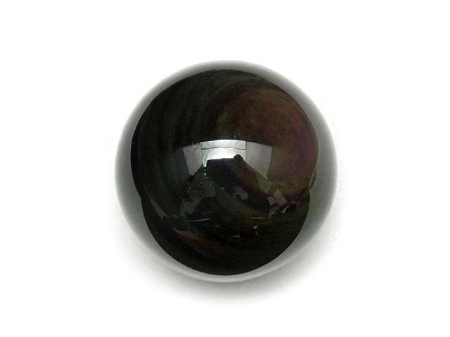 天然石【粒販売】レインボーオブシディアン 丸玉 35mm[穴なし]【1コ販売 600円】ビーズとパワーストーン