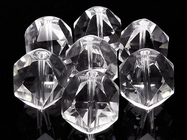 天然石【粒販売】天然水晶 クリスタルクォーツ トライアングル 20面カット 16mm【3粒販売 960円】ビーズとパワーストーン