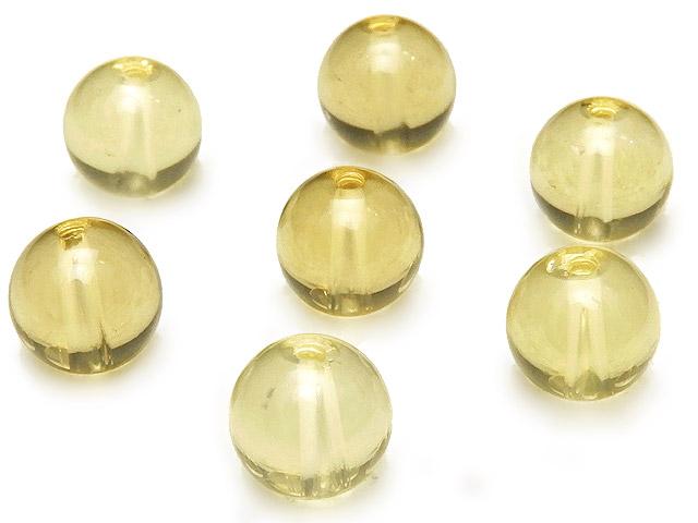 ビーズ天然石【粒販売】レモンクォーツ 丸玉 8mm【6粒販売 600円】とパワーストーン