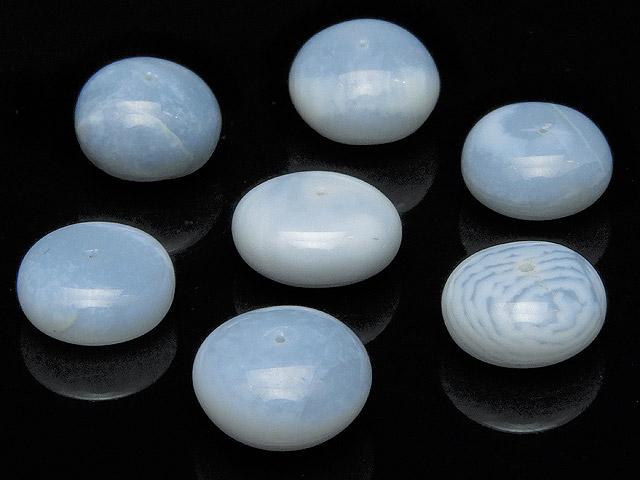 天然石【粒販売】インド産 ブルーオパール ロンデル 10〜11mm【4粒販売 720円】ビーズとパワーストーン