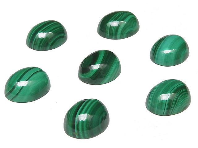 天然石【粒販売】マラカイト カボション 10×8mm【3コ販売 350円】ビーズとパワーストーン