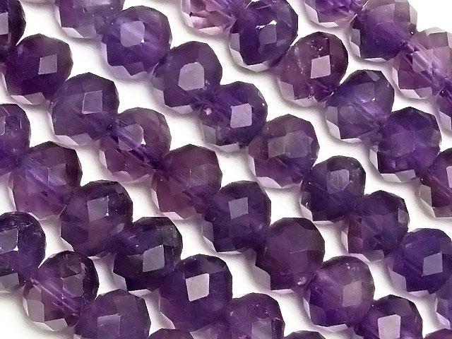 天然石【連販売】ザンビア産 アメジスト ボタンカット 6×5mm【1連 1,600円】ビーズとパワーストーン