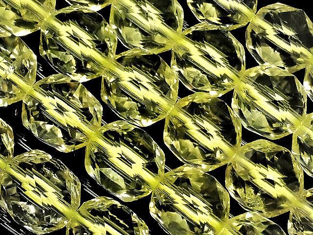 天然石【連販売】レモンクォーツ スターカット 丸玉 10mm[プレミアムカット]【1連 8,800円】ビーズとパワーストーン
