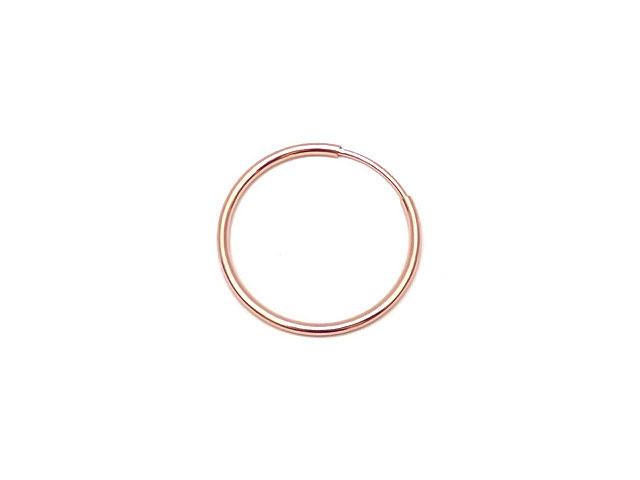 ビーズ天然石14KGF ピンクゴールドカラー フープピアス 20mm【1ペア販売 760円】とパワーストーン